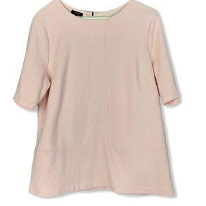 Talbots Women's Blush Pink Short Sleeve Top large